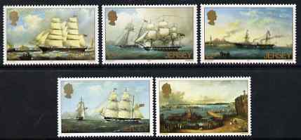 Jersey 1985 Death Centenary of Philip John Ouless (artist) perf set of 5 unmounted mint, SG 352-56