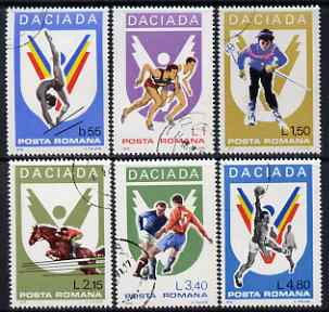 Rumania 1978 Daciada Rumanian Games perf set of 6 fine cto used, SG 4405-10