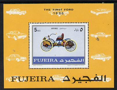 Fujeira 1970 Cars (1896 Ford) m/sheet unmounted mint (Mi BL 40A)