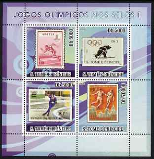 St Thomas & Prince Islands 2008 Olympic Games on Stamps #1 perf sheetlet containing 4 values unmounted mint