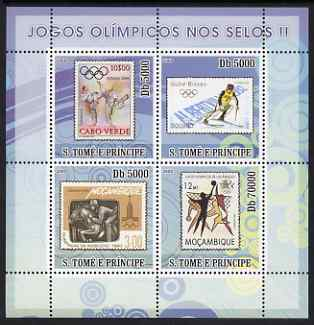 St Thomas & Prince Islands 2008 Olympic Games on Stamps #2 perf sheetlet containing 4 values unmounted mint