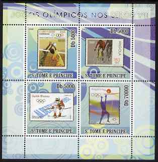 St Thomas & Prince Islands 2008 Olympic Games on Stamps #7 perf sheetlet containing 4 values unmounted mint