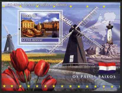 Guinea - Bissau 2008 Europa - 50 Years of Treaty of Rome - Netherlands perf souvenir sheet unmounted mint