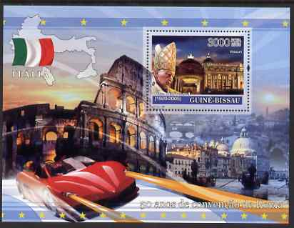 Guinea - Bissau 2008 Europa - 50 Years of Treaty of Rome - Italy perf souvenir sheet unmounted mint