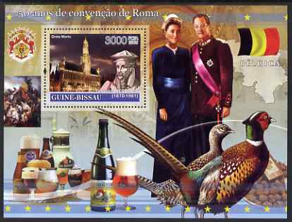 Guinea - Bissau 2008 Europa - 50 Years of Treaty of Rome - Belgium perf souvenir sheet unmounted mint