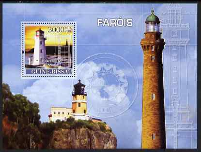 Guinea - Bissau 2008 Lighthouses perf souvenir sheet unmounted mint