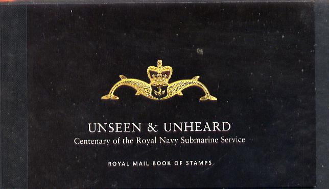 Booklet - Great Britain 2001 Unseen & Unheard \A36.76 Prestige booklet complete & very fine SG DX27