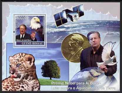 Guinea - Bissau 2007 Nobel Prize to Al Gore (Climate Problems) perf souvenir sheet unmounted mint