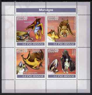 Guinea - Bissau 2007 Bats perf sheetlet containing 4 values unmounted mint