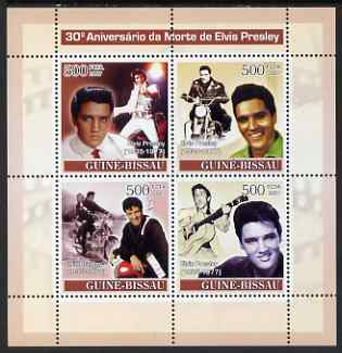 Guinea - Bissau 2007 30th Death Anniversary of Elvis Presley perf sheetlet containing 4 values unmounted mint
