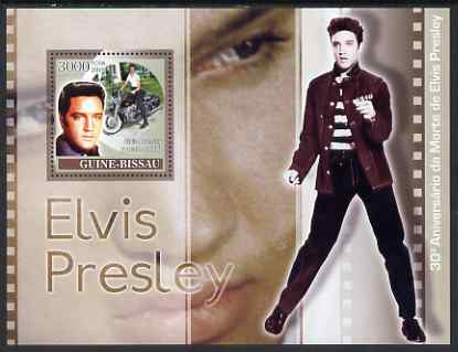 Guinea - Bissau 2007 30th Death Anniversary of Elvis Presley perf souvenir sheet unmounted mint