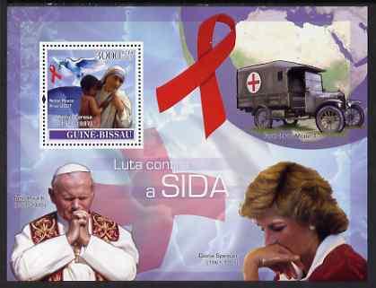 Guinea - Bissau 2007 Fight AIDS perf souvenir sheet unmounted mint