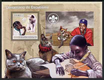 Guinea - Bissau 2007 Centenary of Scouting & Cats perf souvenir sheet unmounted mint