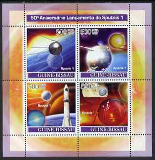 Guinea - Bissau 2007 Space - Sputnik 1 perf sheetlet containing 4 values unmounted mint