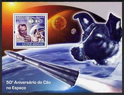 Guinea - Bissau 2007 Space Dogs - Sputnik 2 perf souvenir sheet unmounted mint