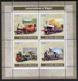Guinea - Bissau 2007 Stean Engines perf sheetlet containing 4 values unmounted mint
