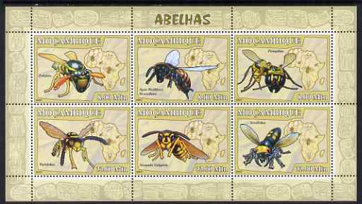Mozambique 2007 Bees perf sheetlet containing 6 values unmounted mint Yv 2330-35