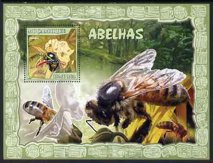 Mozambique 2007 Bees perf souvenir sheet unmounted mint Yv 150