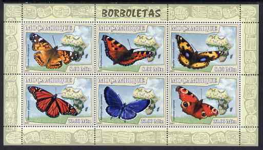 Mozambique 2007 Butterflies perf sheetlet containing 6 values unmounted mint Yv 2354-59
