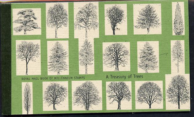 Booklet - Great Britain 2000 A treasury of Trees \A37.00 Prestige booklet complete & very fine SG DX26