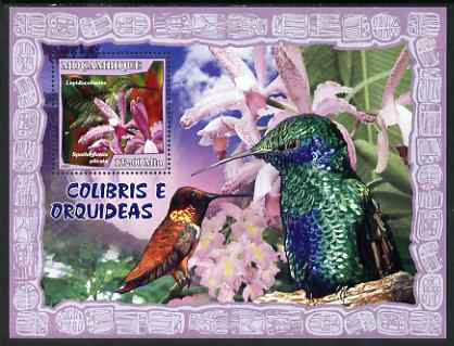 Mozambique 2007 Humming Birds & Orchids perf souvenir sheet unmounted mint Yv 158