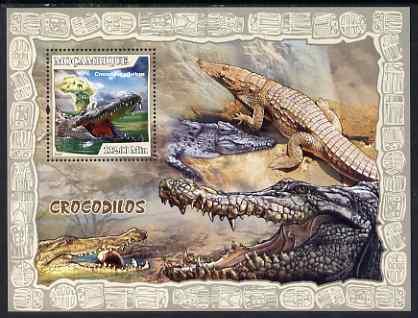 Mozambique 2007 Crocodiles perf souvenir sheet unmounted mint Yv 159