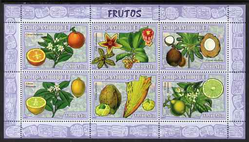 Mozambique 2007 Fruits perf sheetlet containing 6 values unmounted mint Yv 2414-19