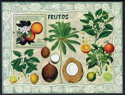 Mozambique 2007 Fruits perf souvenir sheet unmounted mint Yv 163