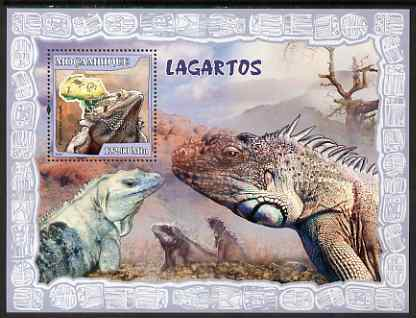 Mozambique 2007 Lizards perf souvenir sheet unmounted mint Yv 165