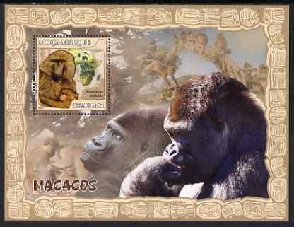 Mozambique 2007 Apes perf souvenir sheet unmounted mint Yv 167