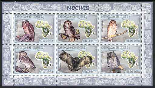 Mozambique 2007 Owls perf sheetlet containing 6 values unmounted mint Yv 2456-61