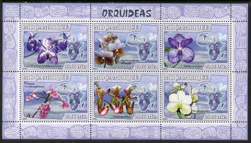 Mozambique 2007 Orchids perf sheetlet containing 6 values unmounted mint Yv 2452-67