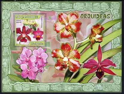 Mozambique 2007 Orchids perf souvenir sheet unmounted mint Yv 170