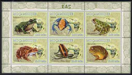 Mozambique 2007 Frogs perf sheetlet containing 6 values unmounted mint Yv 2480-85