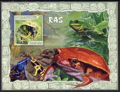 Mozambique 2007 Frogs perf souvenir sheet unmounted mint Yv 173