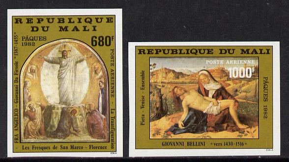 Mali 1982 Easter imperf set of 2 from limited printing (as SG 921-2)
