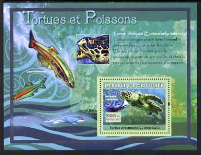 Guinea - Conakry 2007 Turtles & Fish perf souvenir sheet #1 unmounted mint Yv 522
