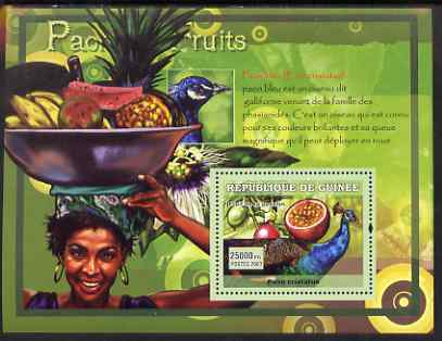 Guinea - Conakry 2007 Peacocks & Fruit perf souvenir sheet #3 unmounted mint Yv 527