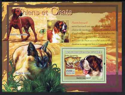 Guinea - Conakry 2007 Cats & Dogs perf souvenir sheet #2 unmounted mint Yv 529