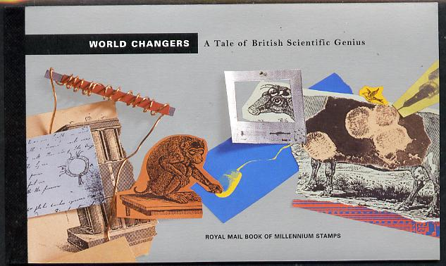 Booklet - Great Britain 1999 World Changers \A36.99 Prestige booklet complete & very fine SG DX23
