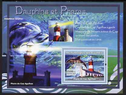 Guinea - Conakry 2007 Dolphins & Lighthouses perf souvenir sheet #1 unmounted mint Yv 540