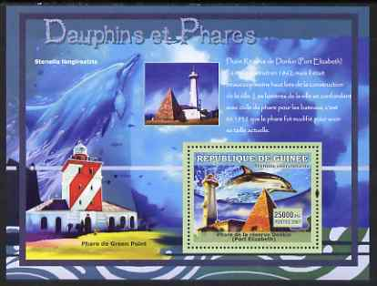 Guinea - Conakry 2007 Dolphins & Lighthouses perf souvenir sheet #2 unmounted mint Yv 541
