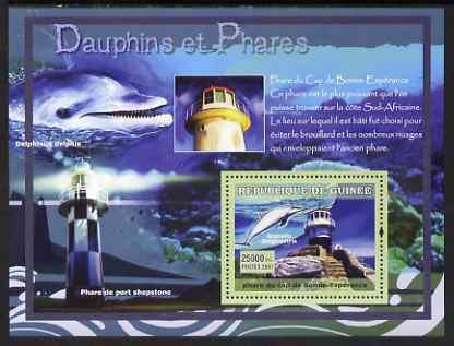 Guinea - Conakry 2007 Dolphins & Lighthouses perf souvenir sheet #3 unmounted mint Yv 542