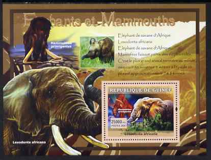 Guinea - Conakry 2007 Elephants & Mammoths perf souvenir sheet #1 unmounted mint Yv 546