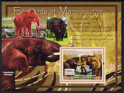 Guinea - Conakry 2007 Elephants & Mammoths perf souvenir sheet #2 unmounted mint Yv 547