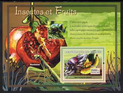 Guinea - Conakry 2007 Insects & Fruit perf souvenir sheet #2 unmounted mint Yv 559