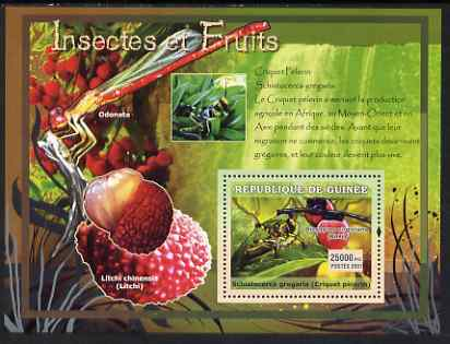 Guinea - Conakry 2007 Insects & Fruit perf souvenir sheet #3 unmounted mint Yv 560