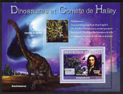 Guinea - Conakry 2007 Dinosaurs & Halleys Comet perf souvenir sheet #1 unmounted mint Yv 564