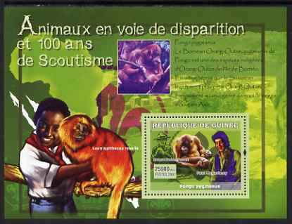 Guinea - Conakry 2007 Endangered Animals & Scouts perf souvenir sheet #2 unmounted mint Yv 571