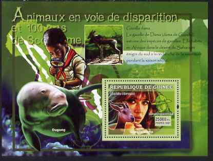 Guinea - Conakry 2007 Endangered Animals & Scouts perf souvenir sheet #3 unmounted mint Yv 572